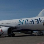 Why a Sri Lankan Airlines A330-200 is parked with one engine missing?