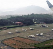 An ariel view of domestic airlines parked at the Tribhuvan International Airport in Kathmandu, on Tuesday, September 6, 2016. Photo: RSS