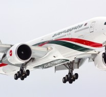 Biman Boeing 777-300 S2-AFO landing at Sheremetyevo international airport with Bangladesh prime minister on board.