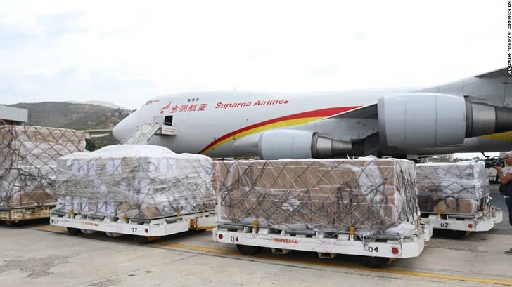 Chinese cargo plane carrying humanitarian aid arrives in Caracas