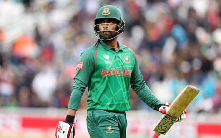 Bangladesh's Tamim Iqbal walks off after being caught by Australia's Josh Hazlewood from a ball by Mitchell Starc during the ICC Champions Trophy, Group A match at The Oval, London. (Photo by Adam Davy/PA Images via Getty Images)