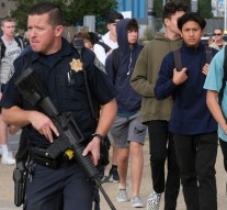 Students are escorted off of campus at Saugus High after a shooting occurred around 7:30 at Saugus high in Santa Clarita, CA Thursday, November 14, 2019.    (Photo by David Crane, Los Angeles Daily News/SCNG)
